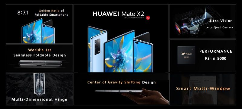 Katlanabilir Huawei Mate X2 modeli tanıtıldı